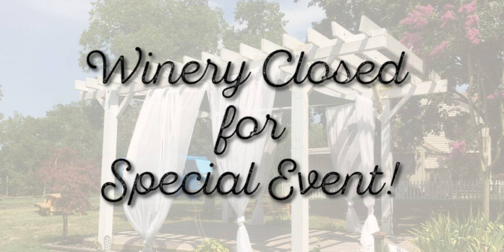 CLOSED June 26th for Private Event